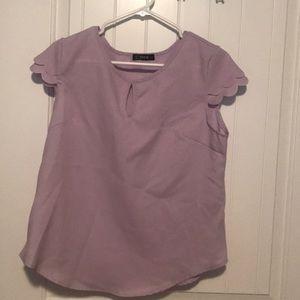🌸 Petal Sleeve Top from Shein - Purple